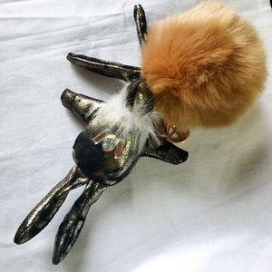 Price drop❣Aldo punk bunny pom pom key chain